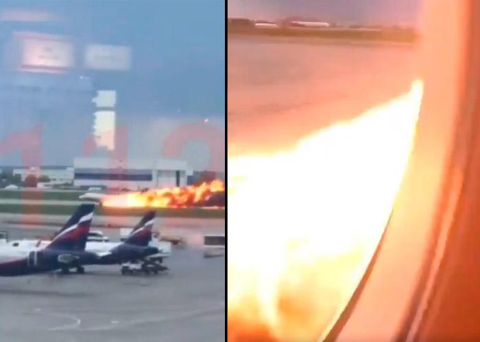 [Videos] Desde el interior del avión ruso que se estrelló matando a 41 personas