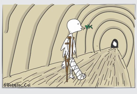 Caricatura: Un respiro después de la tormenta