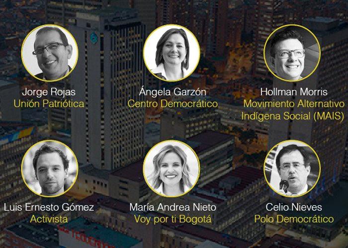 Los candidatos a la alcaldía de Bogotá que se le medirán a debatir con los jóvenes