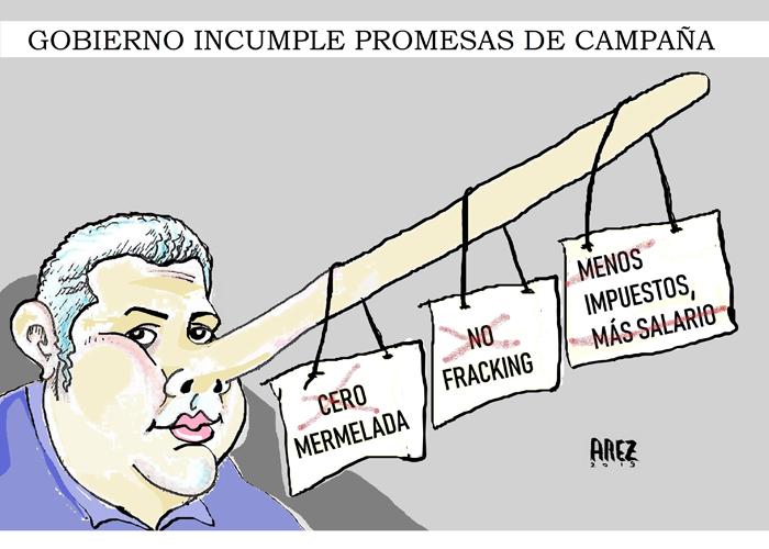 Caricaturas: Duque, el Pinocho colombiano