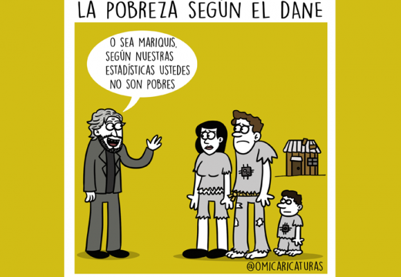 Caricatura: La pobreza según el Dane