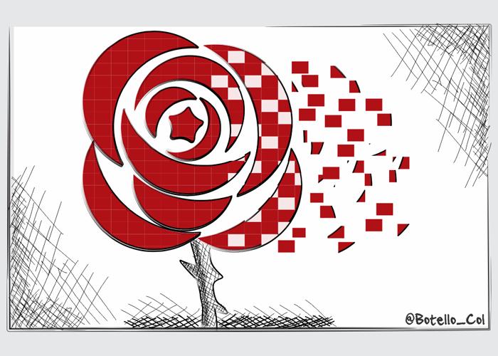 Caricatura: Muere una flor