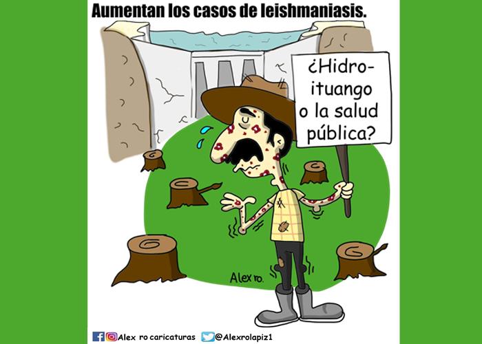 Caricatura: La enfermedad de Ituango