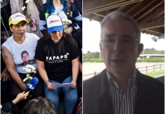 Madres de Soacha responden indignadas a mensaje de expresidente Álvaro Uribe