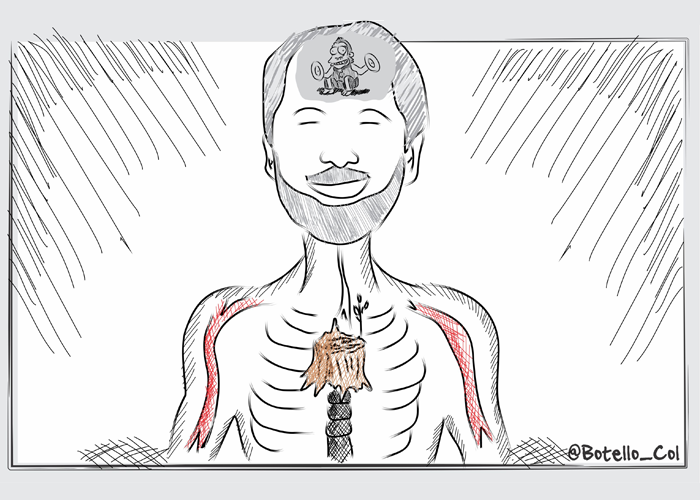 Caricatura: La curiosa anatomía de Peñalosa