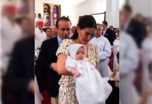 Taliana Vargas le puso ritmo al bautizo de su hija