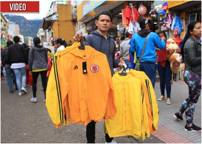 080cc1cdd1 El jugoso negocio de las camisetas piratas de la selección Colombia ...