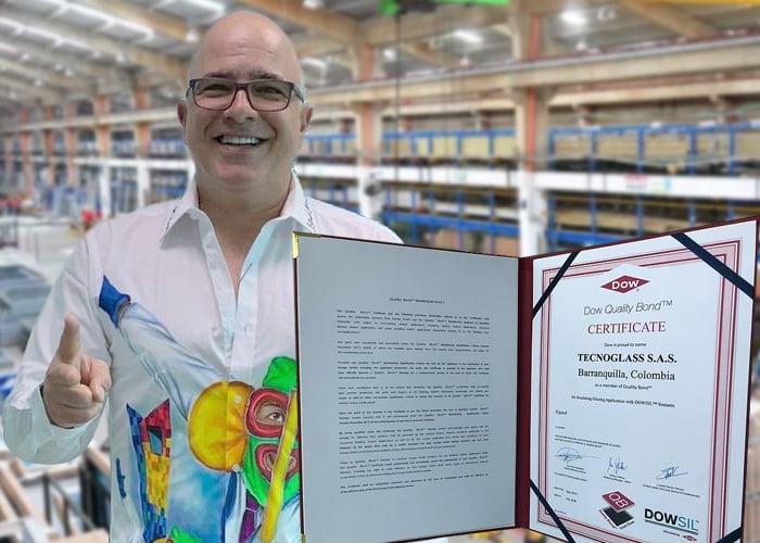 ESW y Tecnoglass recibió el certificado Dow Quality