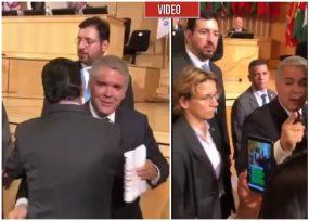 VIDEO: Amargo recibimiento a Iván Duque en la OIT en Ginebra, Suiza