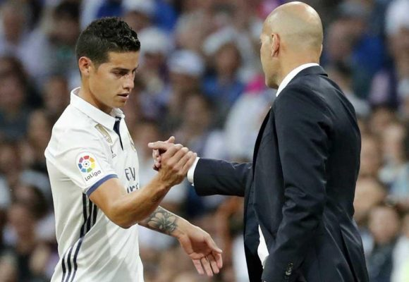 La acabada que le pegó el Real Madrid a James