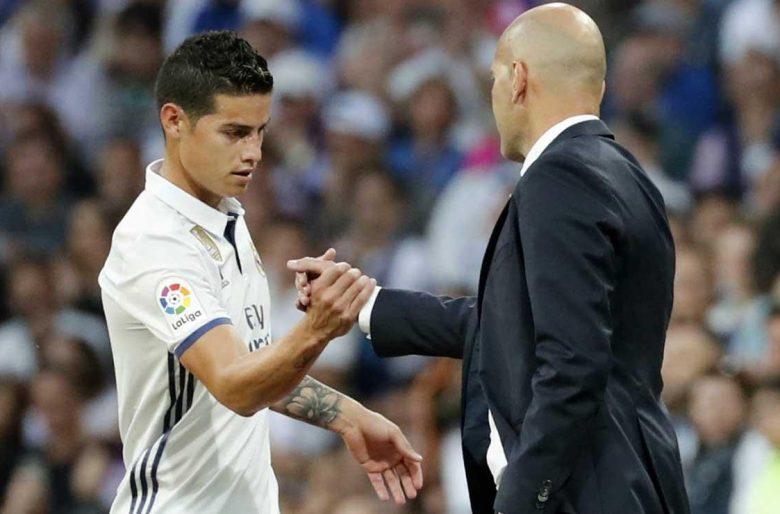 La acabada que le pegó el Real Madrid a James