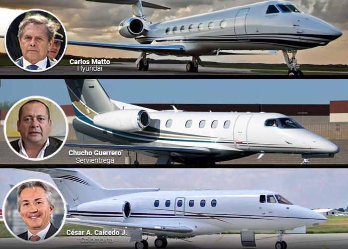 Dueños y presidentes de estas 50 compañías se mueven en avión privado