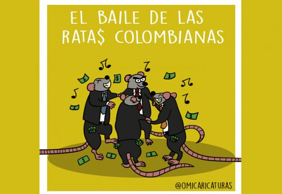 Caricatura: El baile de las ratas colombianas