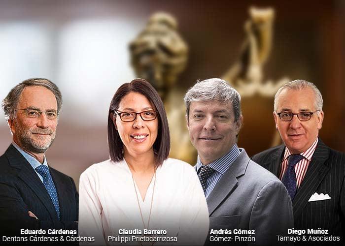 Solo una mujer entre los 15 abogados más importantes de Colombia
