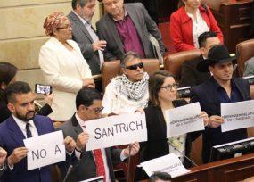 Furia en el Congreso por la llegada de Santrich