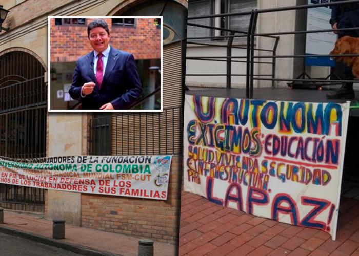La Universidad Autónoma de Colombia deja colgados a 4.000 estudiantes