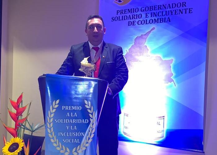 El galardón que reconoció los esfuerzos del alcalde de Gualmatán, Nariño