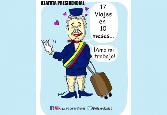 Caricatura: Duque, de la Casa de Nariño a los aeropuertos internacionales