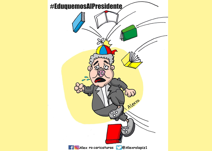 Caricatura: Eduquemos al presidente