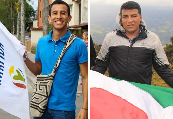 Andrés Felipe Velasco y Fredy Palechor, las jóvenes apuestas de Colombia Humana en el Cauca