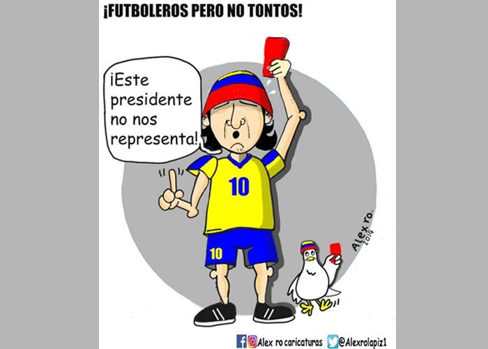 Caricatura: ¡Futboleros pero no tontos!