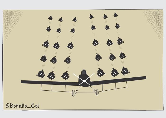 Caricatura: ¿Realmente la aspersión aérea con glifosato es la salida?