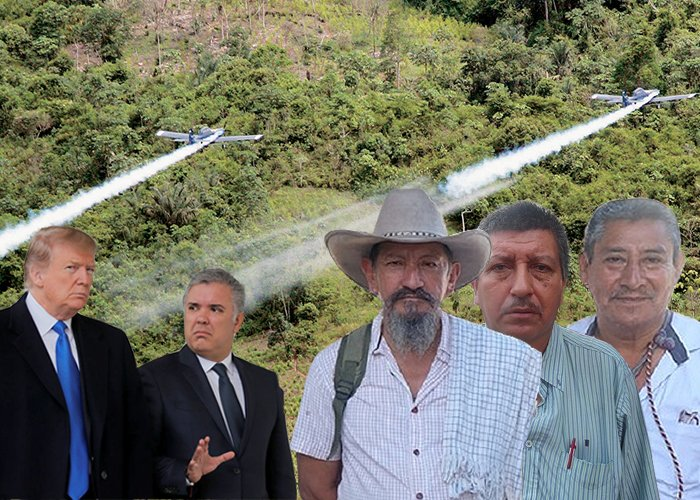 Dos indígenas y un campesino del Putumayo listos a enfrentar la política de Trump y Duque