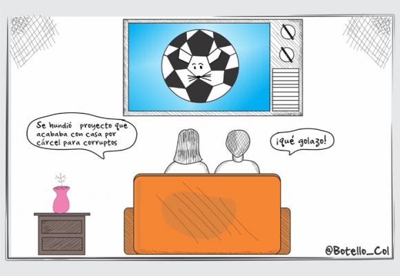 Caricatura: La goleada que nos metieron a los colombianos