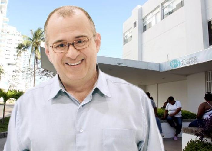 Jota Mario Valencia, hospitalizado en cuidados intensivos en Cartagena