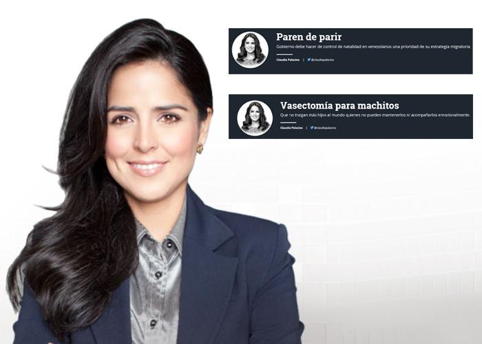 Claudia Palacios y su terca insistencia con la esterilización forzada