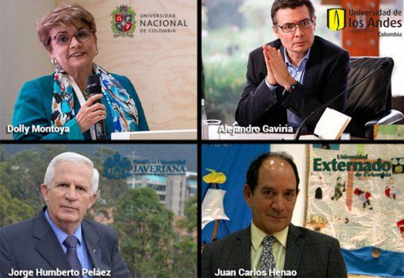 Quiénes mandan en las diez universidades más reconocidas de Colombia
