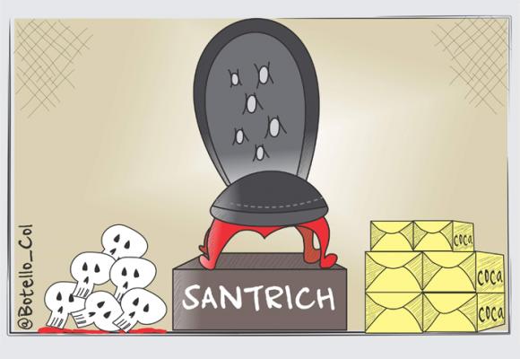 Caricatura: La posesión de Santrich
