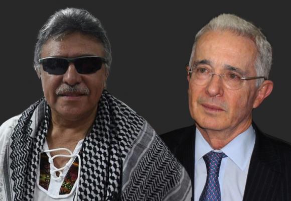 Así podría ser una charla entre Uribe y Santrich