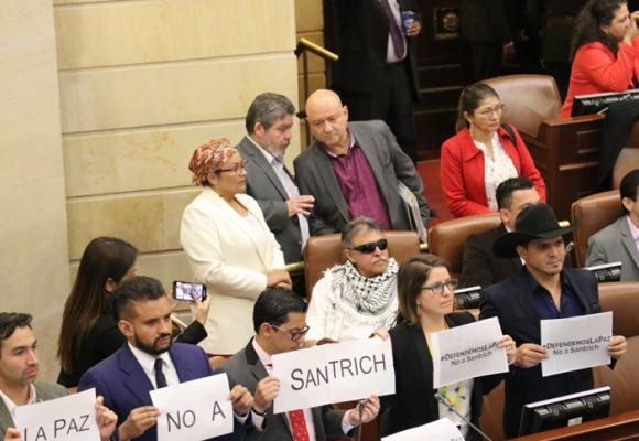 El infortunado debut de Santrich en el Congreso