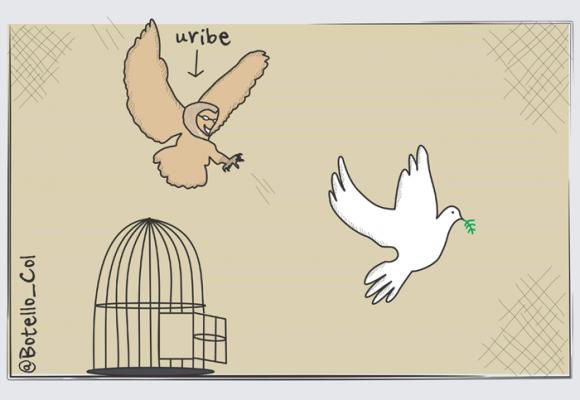 Caricatura: La cacería de la paz