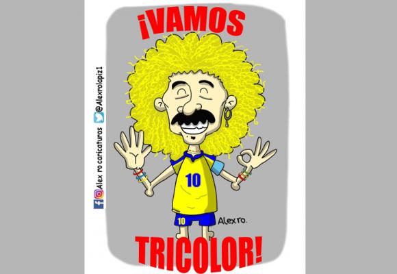 Caricatura: ¡Vamos, tricolor!