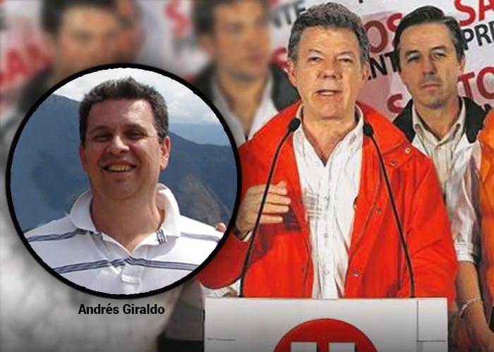 Andrés Giraldo, el testigo del USD 1 millón de Odebecht en la campaña de Santos Presidente