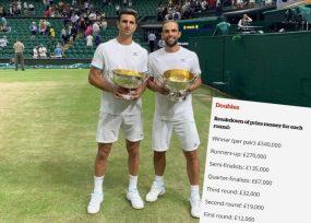 ¿Cuánta plata ganaron Cabal y Farah como campeones de Wimbledon?