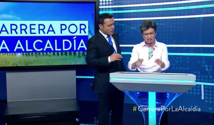 """""""No me vengas con cositas machistas"""": la grosería de Claudia López con Juan Diego Alvira"""