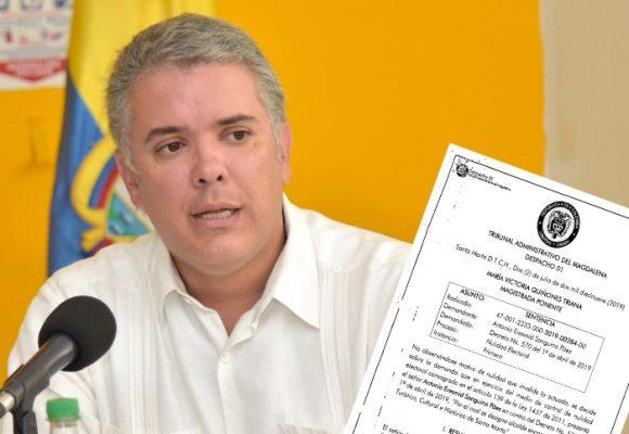 Presión judicial a Duque para que escoja alcalde de Santa Marta