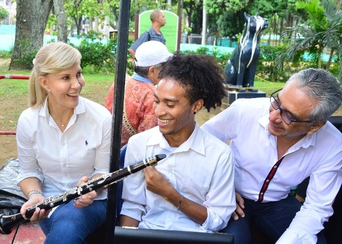 El clarinetista caleño que tocará en los Alpes