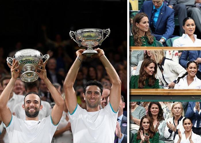 La realeza, celebridades y la élite del tenis aplaudieron a los colombianos