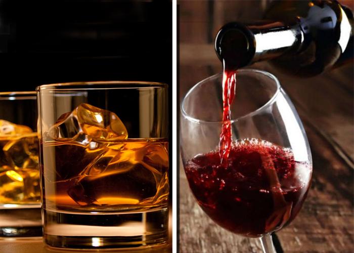 Se toma más vino que whisky