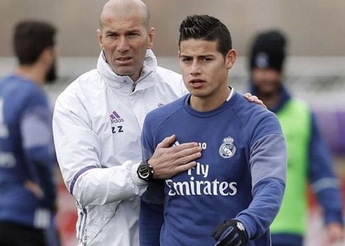 Primer desplante de Zidane a James Rodríguez