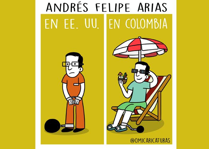 Caricatura: ¿Empezarán las vacaciones de Andrés Felipe Arias?