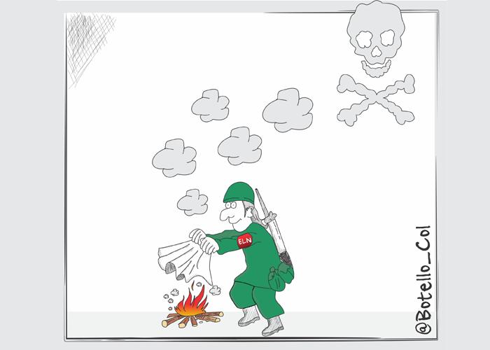 Caricatura: Señal de negociación
