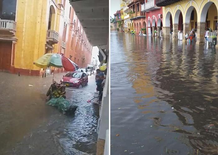 Cartagena es tan fantástica que cada vez que llueve se convierte en Venecia