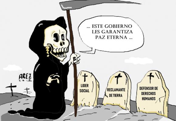 Caricatura: La paz de Duque