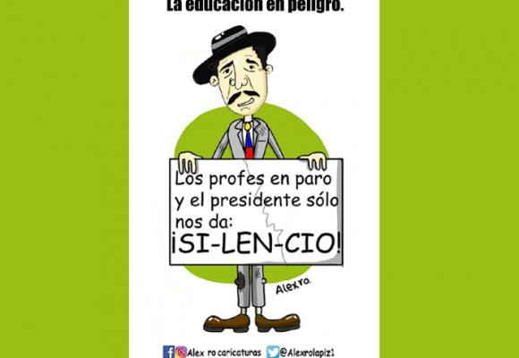 Caricatura: La educación en peligro