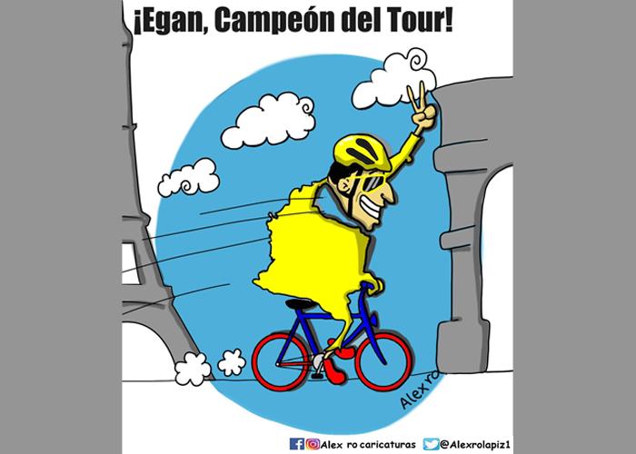 Caricatura: ¡Egan, nuestro campeón!